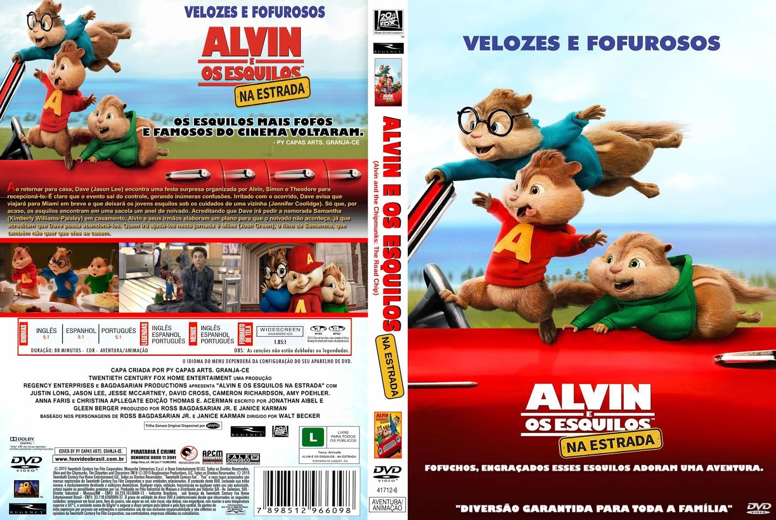 Alvin e os Esquilos Na Estrada BDRip XviD Dual Áudio ALVIN 2BE 2BOS 2BESQUILOS 2B4 2B  2BNA 2BESTRADA
