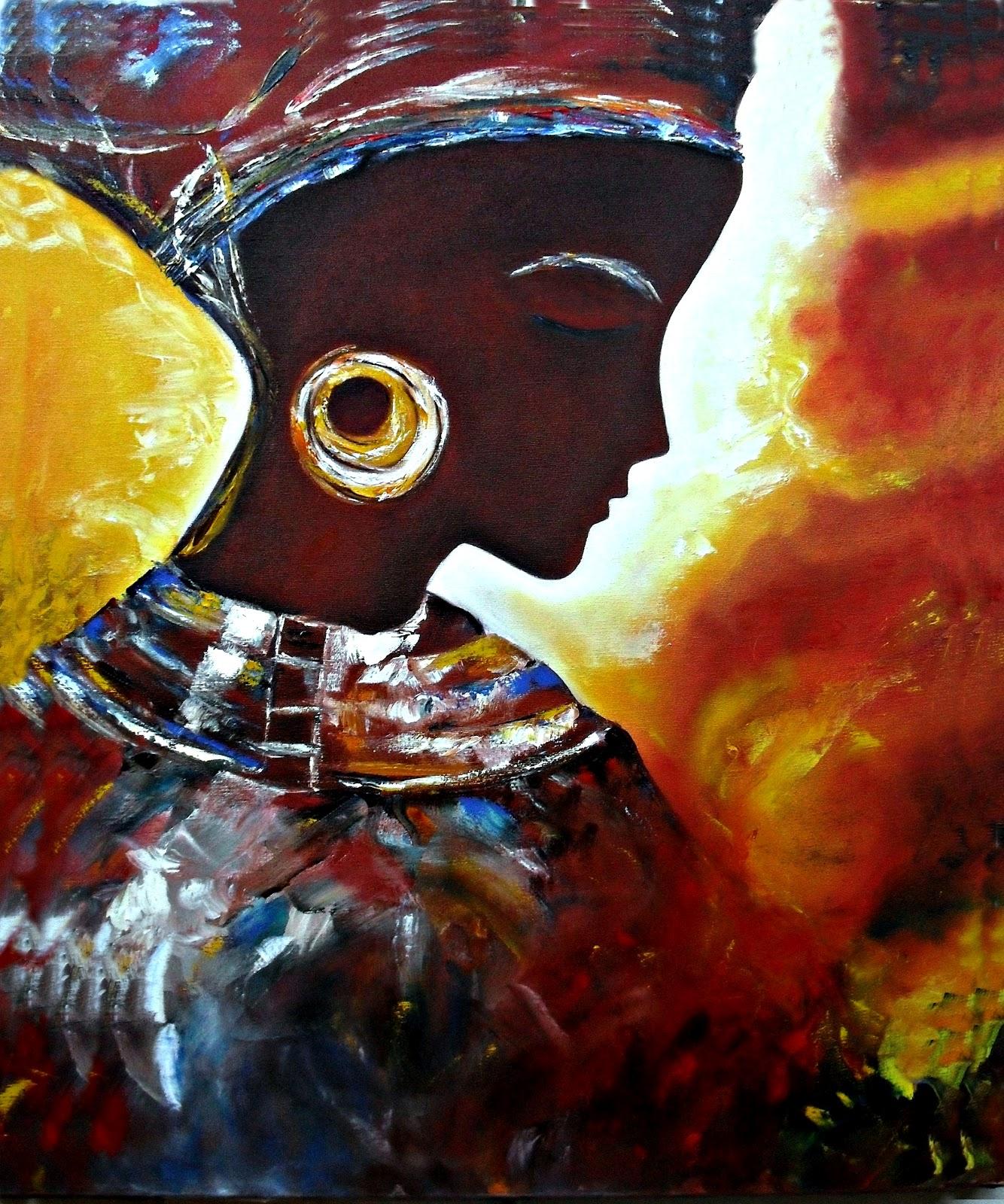 pintura e arte em telas beleza negra ii
