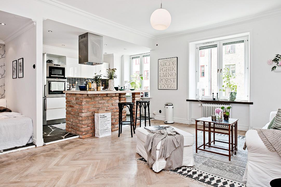 skandynawskie mieszkanie 42m2 blog wn trza design codziennie szczypta designu. Black Bedroom Furniture Sets. Home Design Ideas