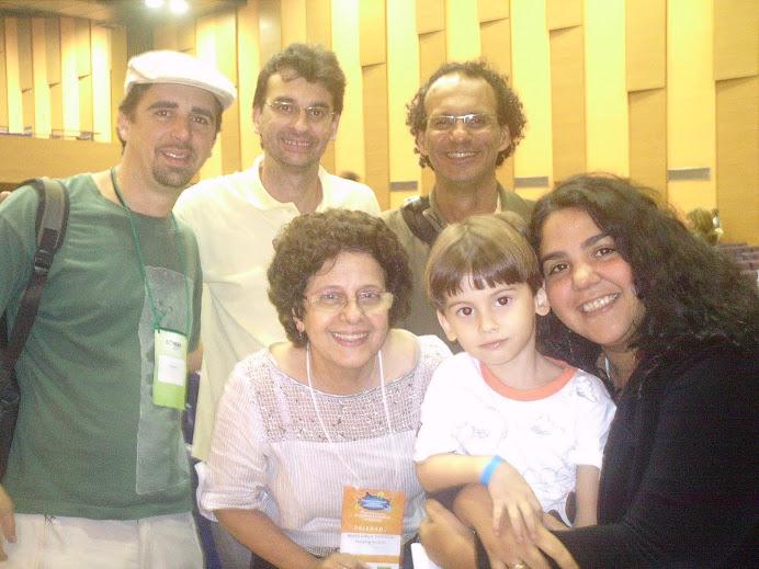 Alguns companheiros do FBSSAN: Julian (PR), Cazuza (AC), Maria Emília e Vanessa (RJ)