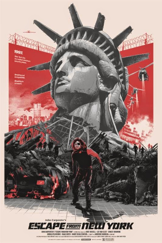 "Escape from New York Variant Screen Print ""The name's Plissken!"" by Gabz"