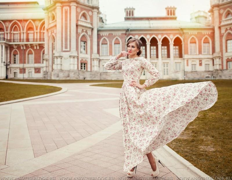 летящее платье