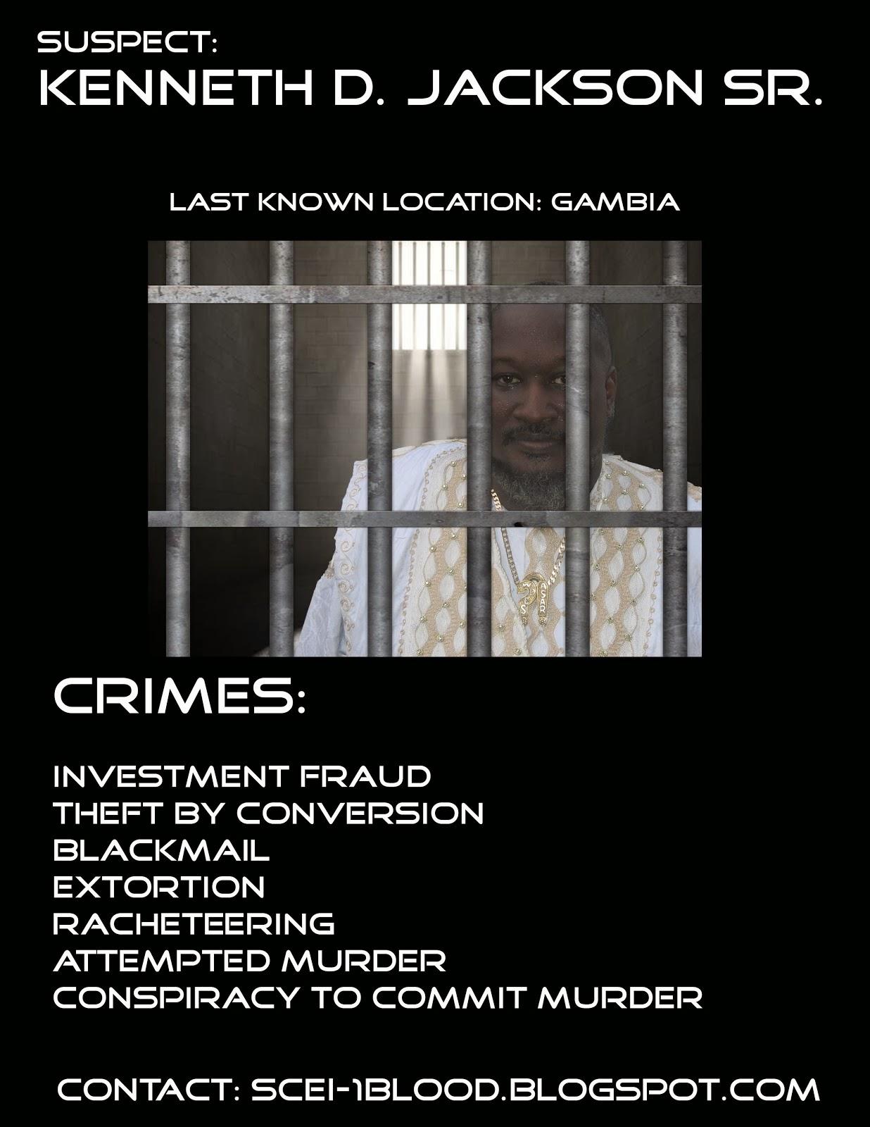 SATIRE: Ambassador Kenneth D Jackson Wanted