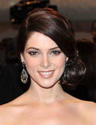 Ashley Greene Side Swept Bun Hairstyle