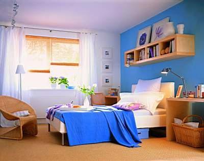 Habitaciones matrimoniales color azul dormitorios - Habitacion juvenil azul ...