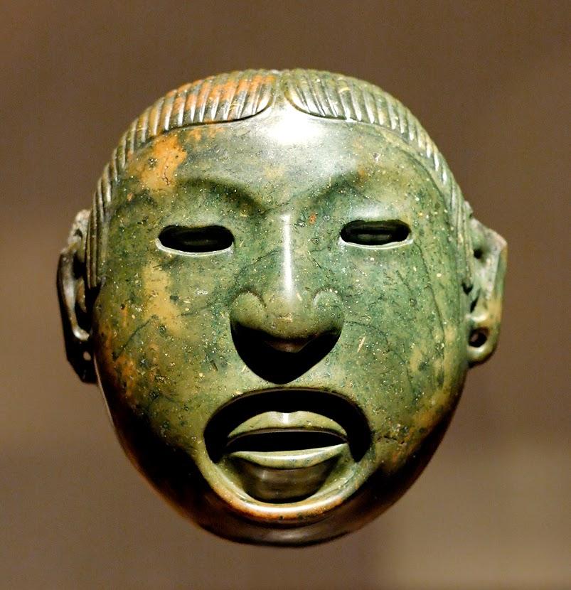 Mayas Mascaras de Jade Máscara Azteca de Jade Del