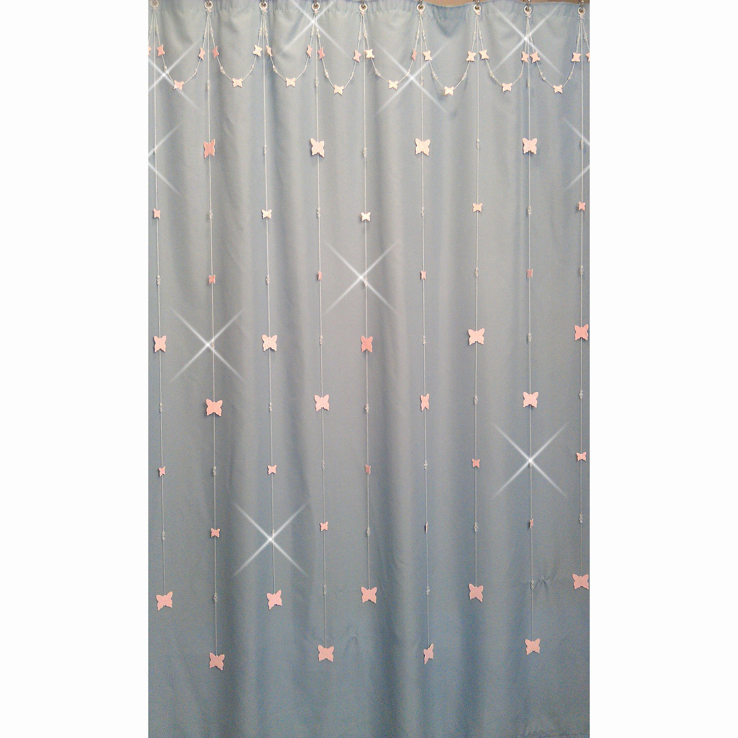 Shadez of Michelle: Shower Curtain Bling Pink Butterfly