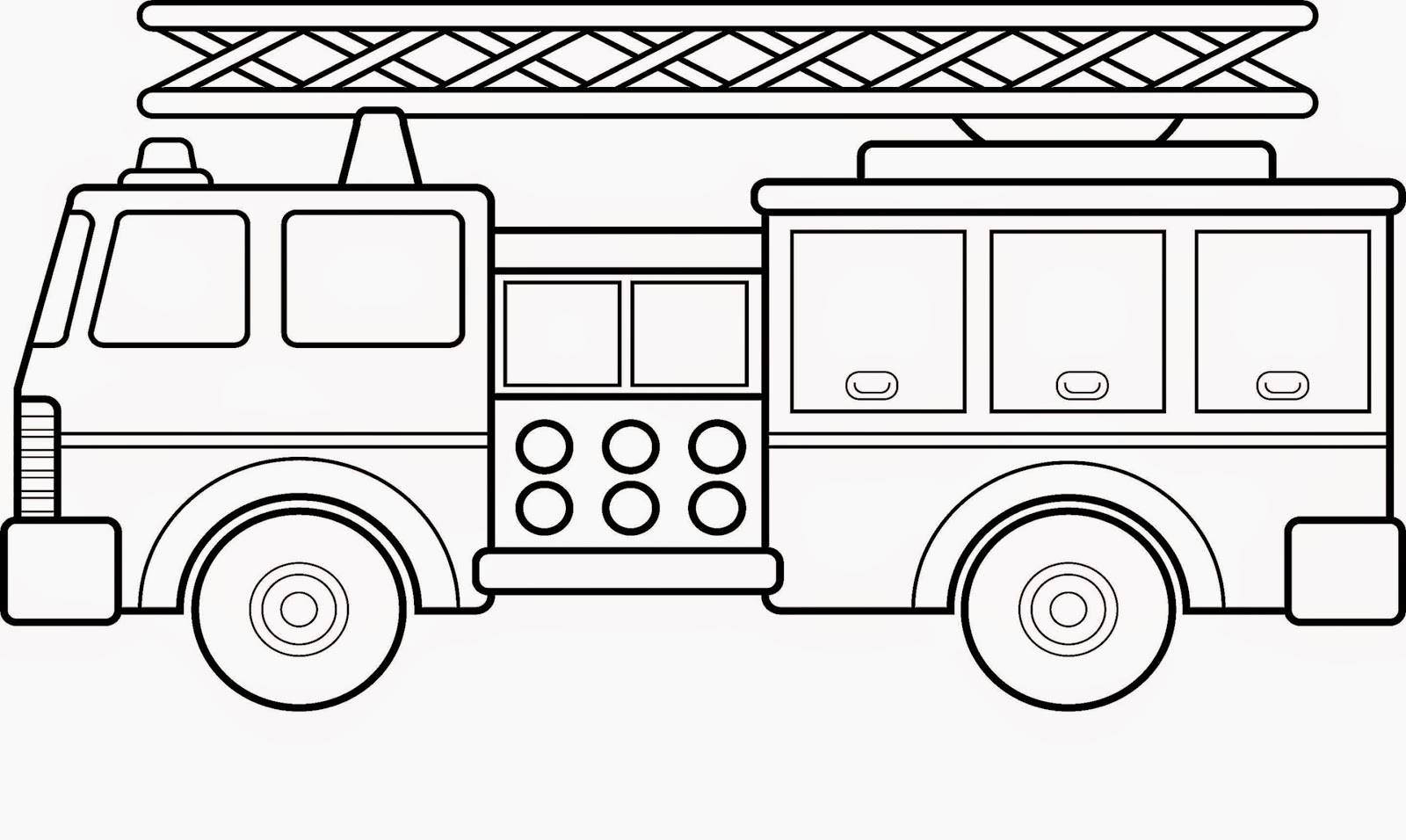 Ladder Truck Coloring Pages
