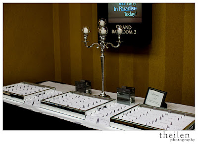 Escort Cards displayed in mirrored trays l Theilen Photo l Atlantis Reno l Take the Cake Event Planning