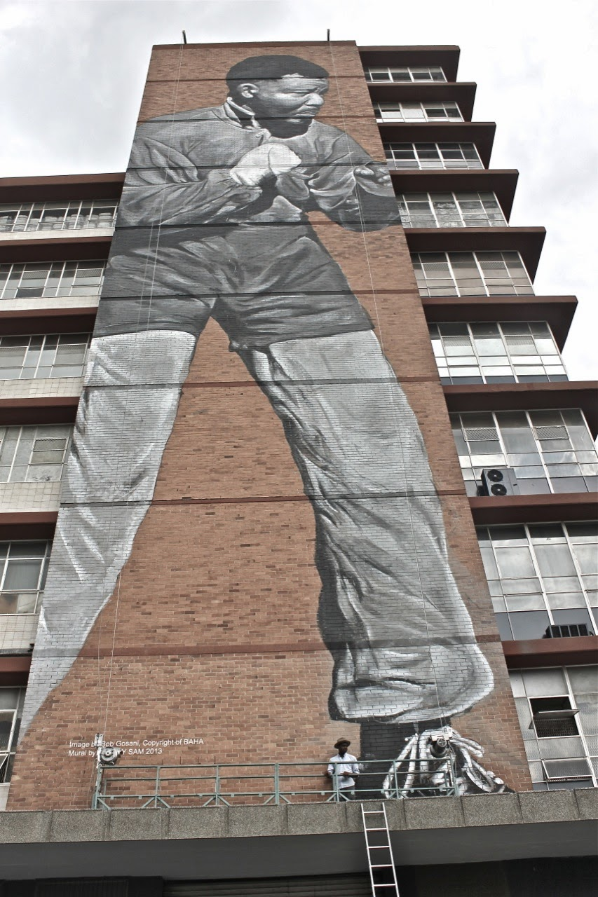 """I am Because We Are"" New Street Art Tribute to Nelson Mandela in Johannesburg, South Africa. 2"