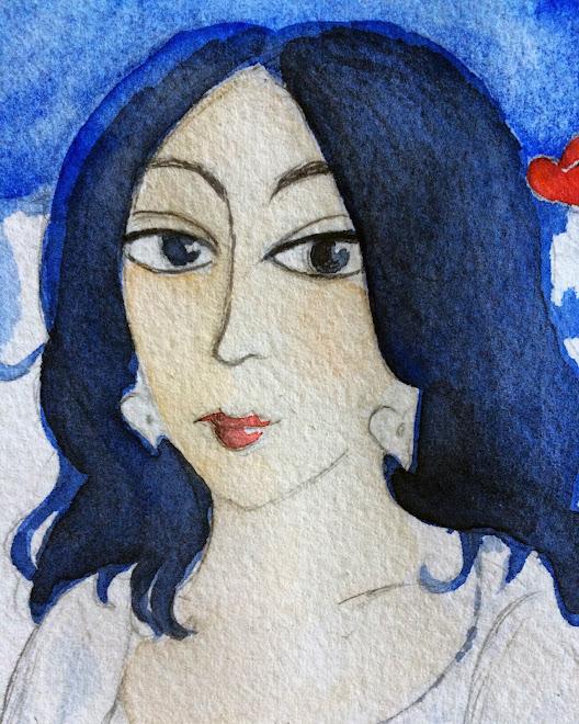 Autoportrait bleu d'un soir