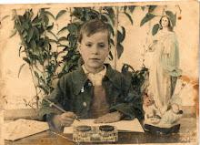 Antonio Blanco Jiménez, en el colegio Calvo Sotelo