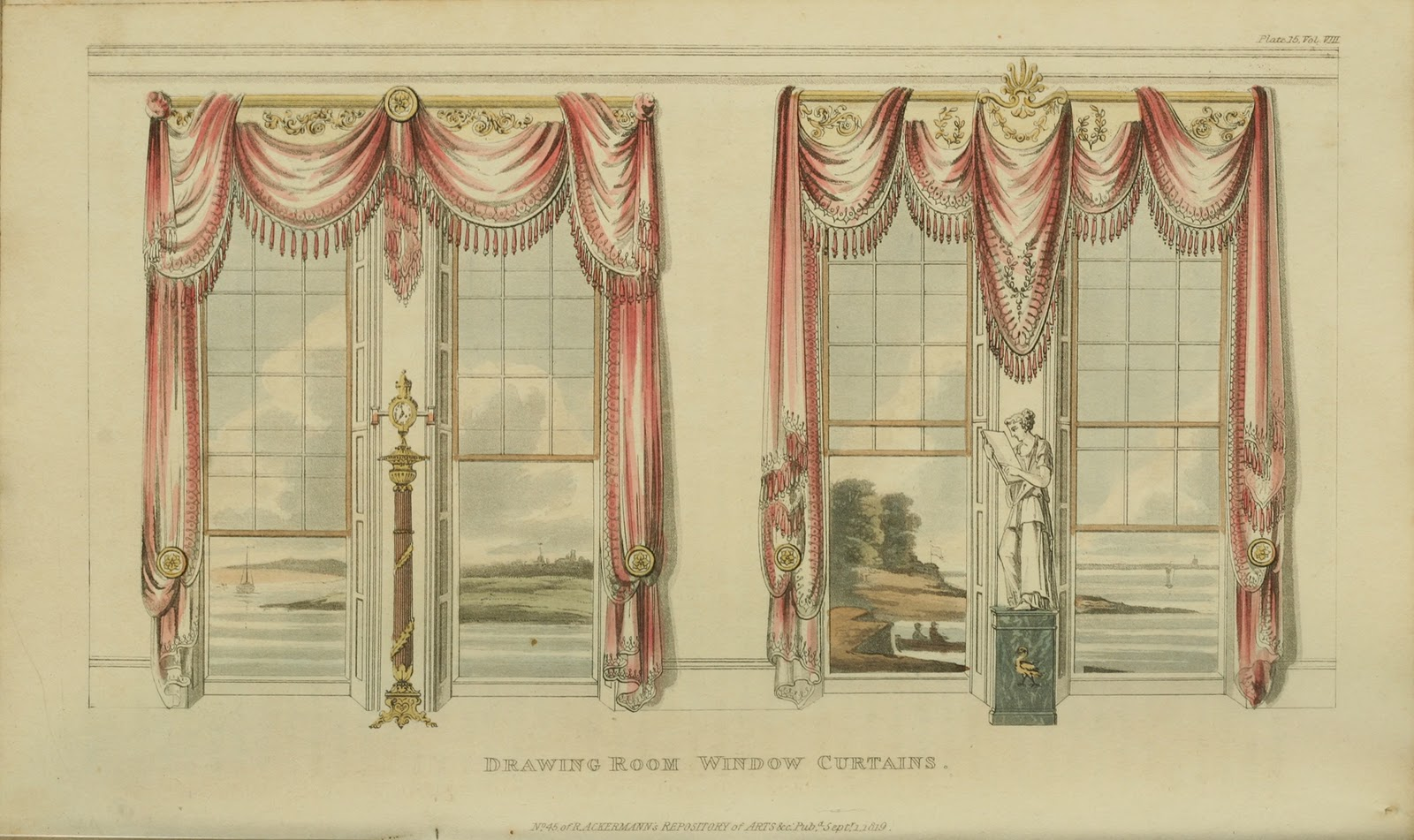 Drawn curtains