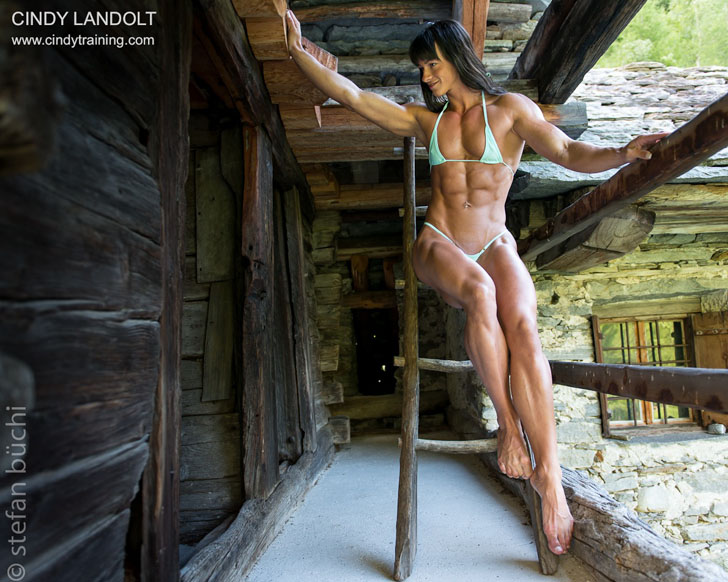 Cindy Landolt Posing Her Fit Physique In A Tiny Bikini
