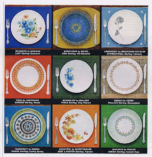 Melamine dinnerware from 1966