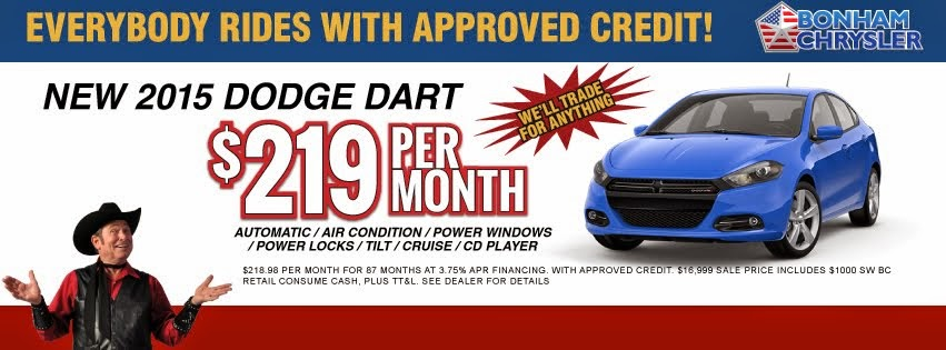 Huge Savings on 2015 Dodge Dart!