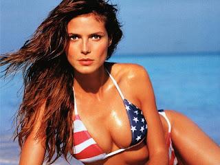 Celebrity Heidi Klum Hot Bikini Wallpapers Gallery