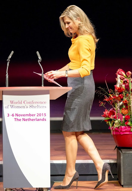 Queen Maxima of The Netherlands and Crown Princess Mary of Denmark attend the 3rd World Conference of Women's Shelters at the World Forum