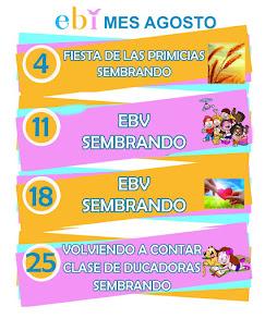 Agenda mes de Agosto