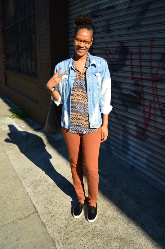 DIY bleached denim jacket pose 3 {who is that girl mo?}
