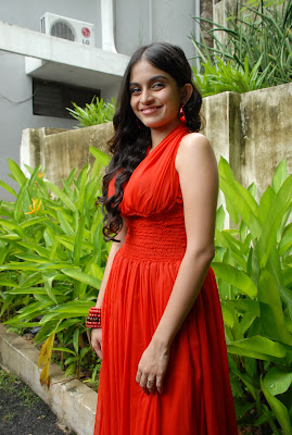 sheena shahabadi shoot red dress glamour  images