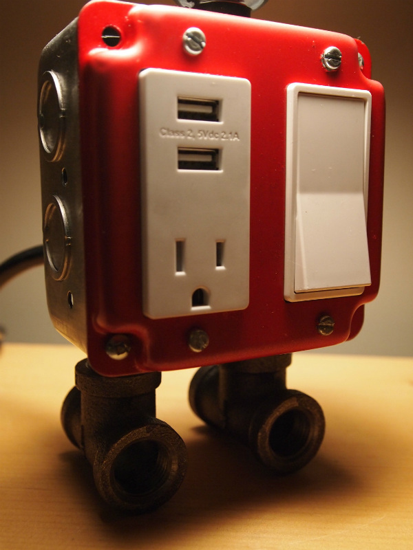Table Lamp With Usb Charging Station Spicytec
