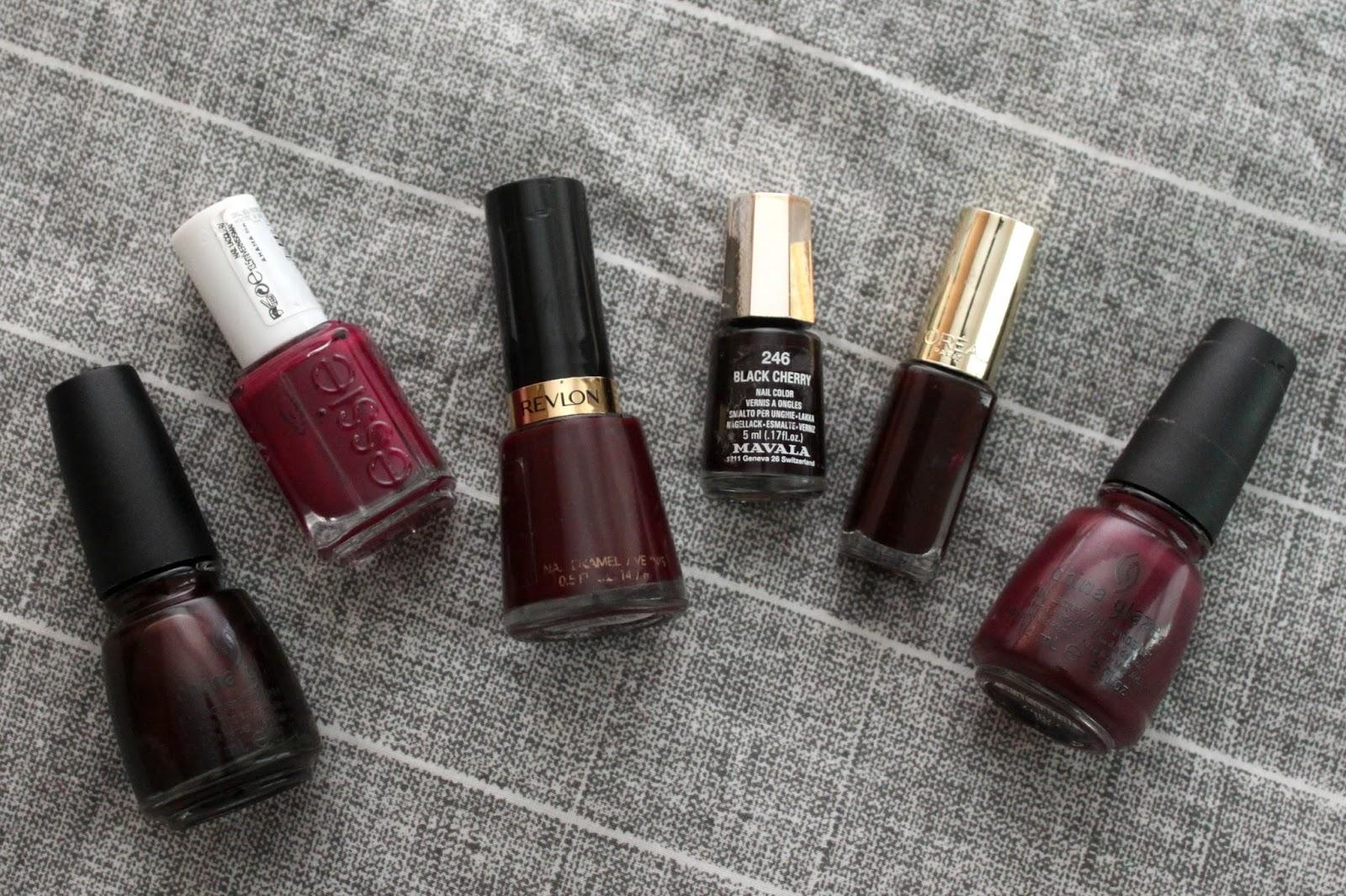 TOP 6 MAROON NAILS | Makeup and Beauty Mayhem