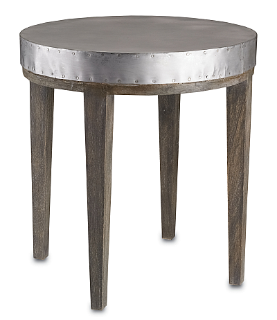 rustic gray wood side table
