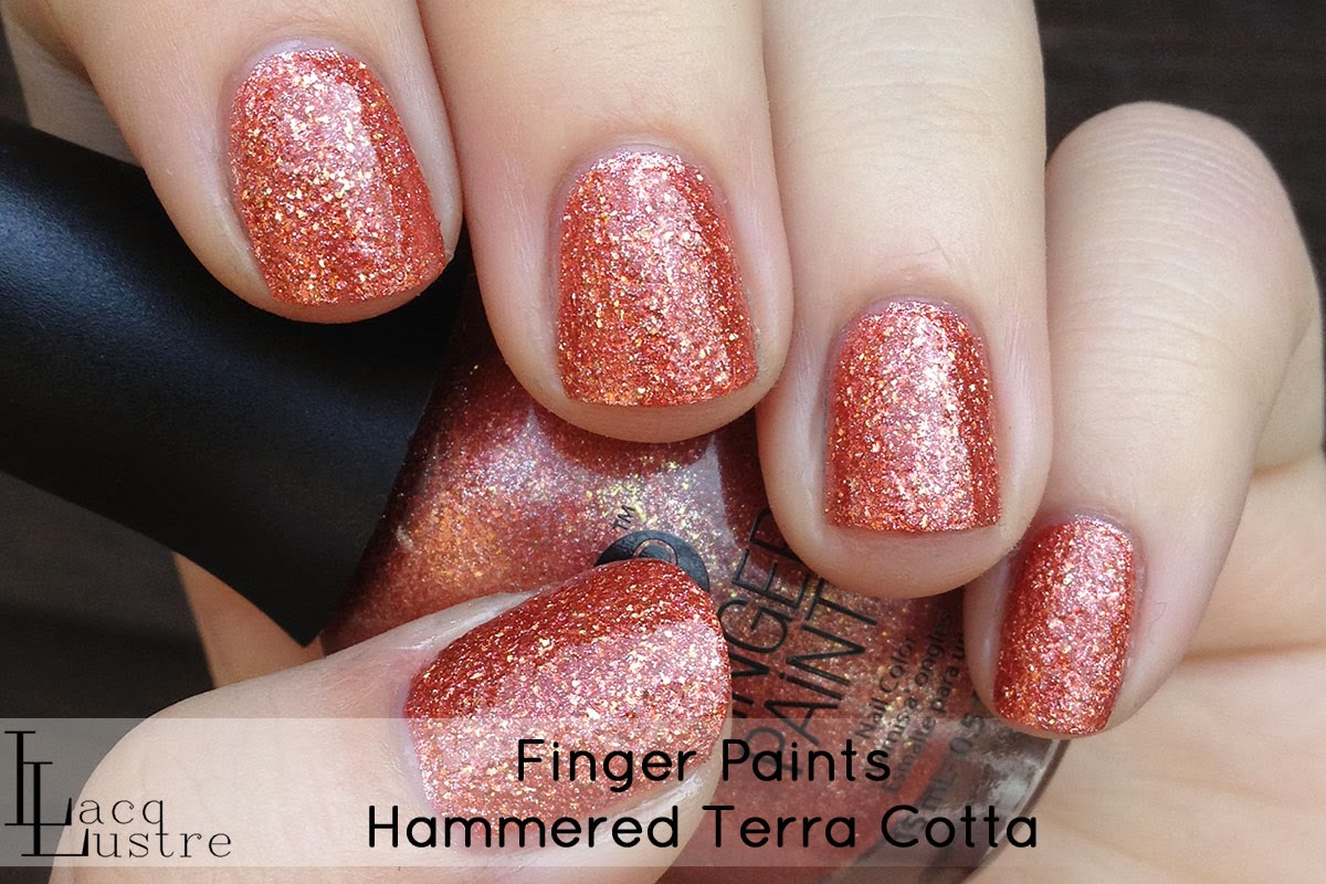 Finger Paints Hammered Terra Cotta top coat