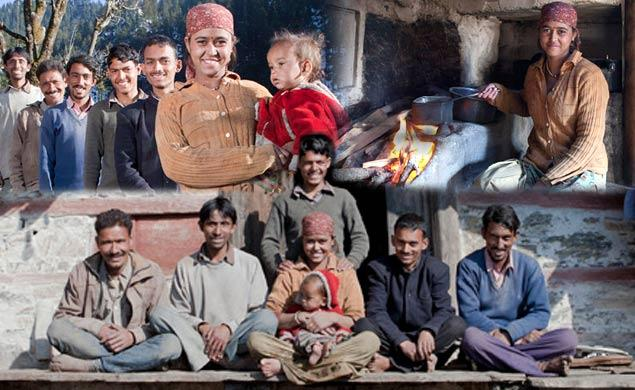 An Indian Woman Rajo Verma 21 Lives In A One Room Swith All Five Of Her Husbands Who Happen To Be Brothers Also She Sleeps With A