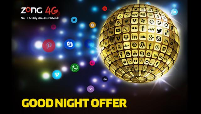 Zong GoodNight Offer Details in urdu