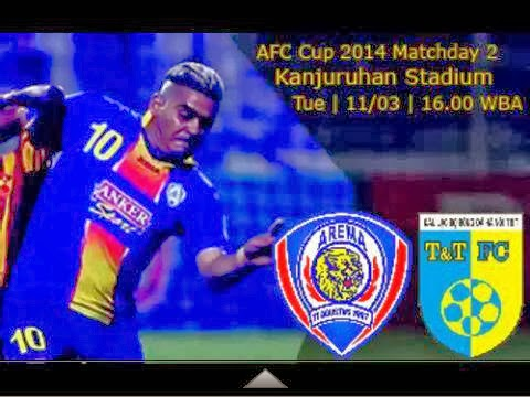 Arema Indonesia vs Hanoi T&T AFC Cup 2014