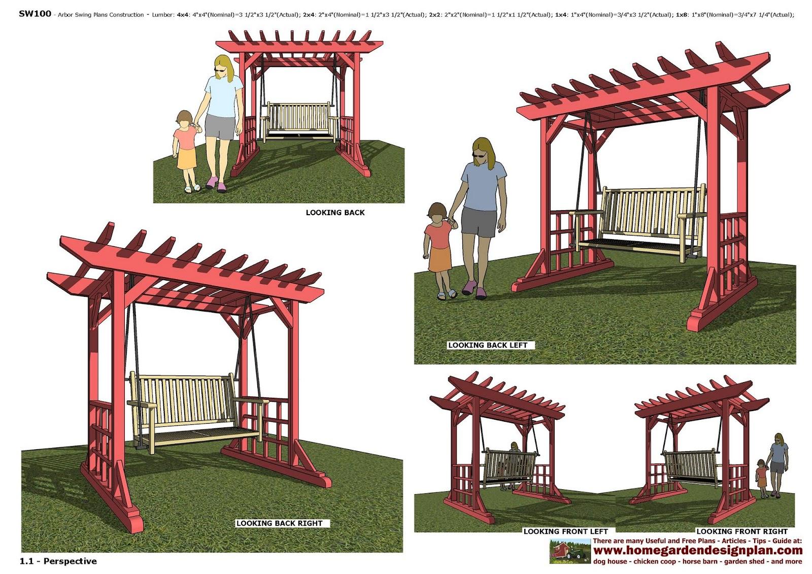 home garden plans furniture plans arbor swing plans rustic porch arbor swing set plans arbor swing building