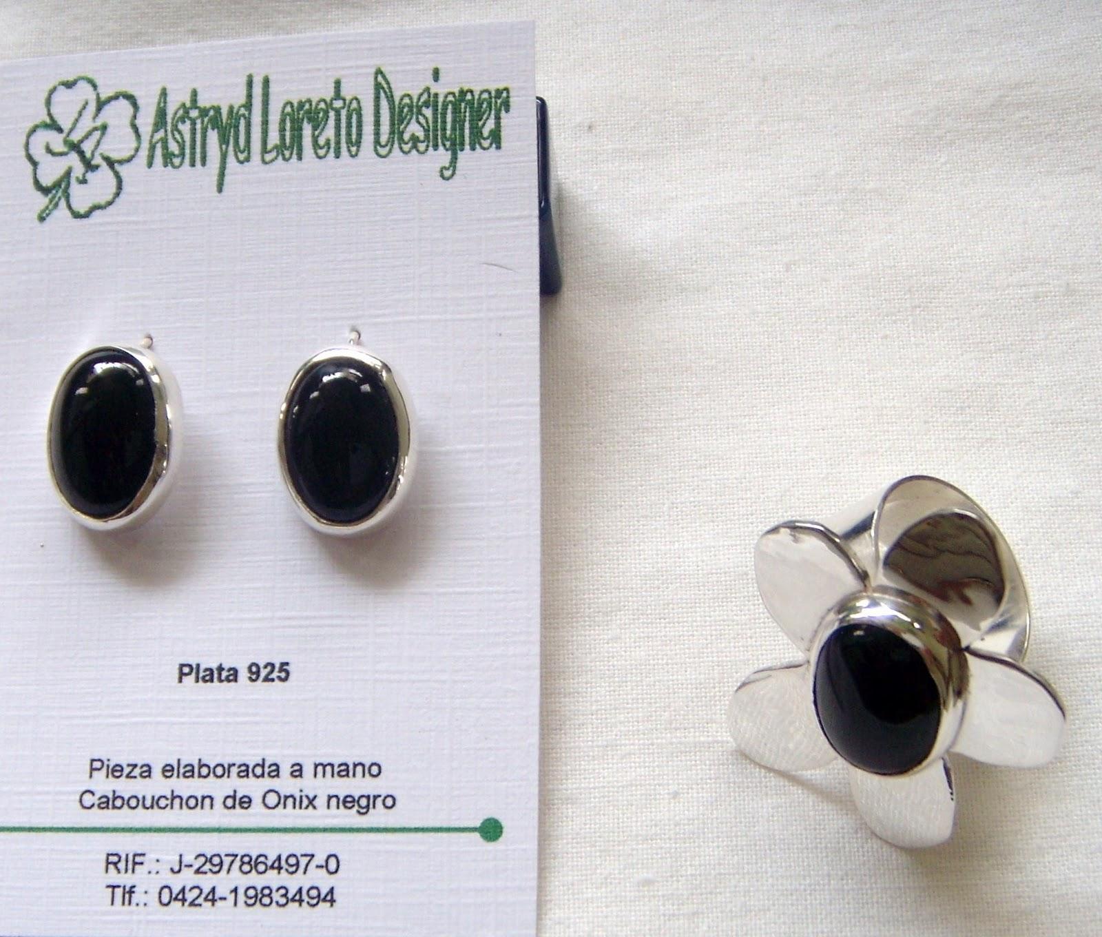 Baños De Verde Malaquita:Plata Zarcillos y Anillo con cabuchón de Ágata negra