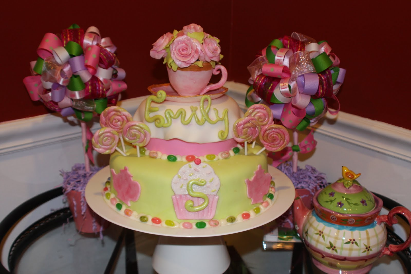 Kels Cake Creations Tea Party Sweet Shop Birthday Cake