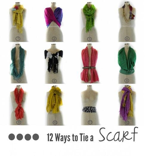 how to wear a square scarf as a top