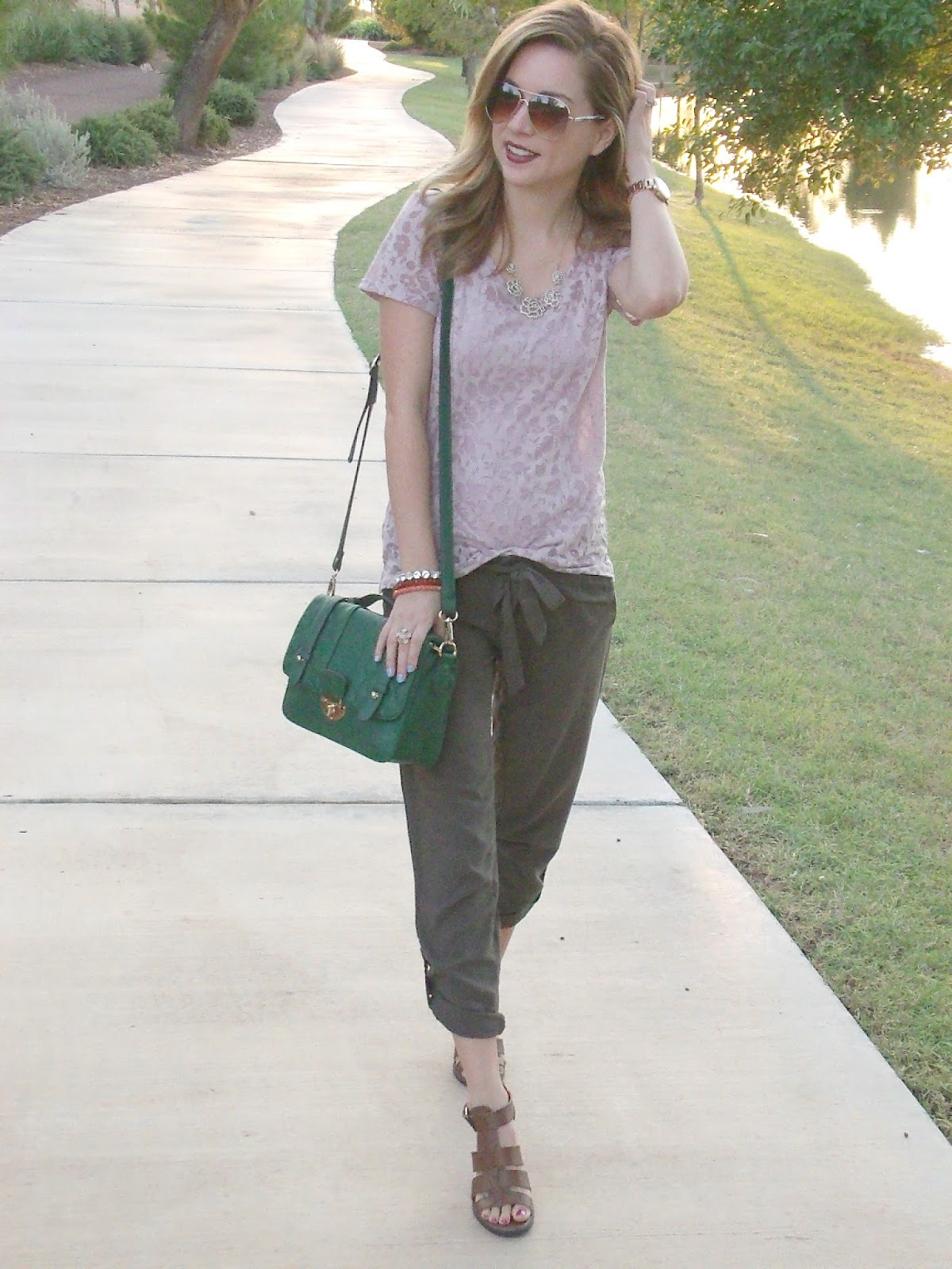 pink and olive