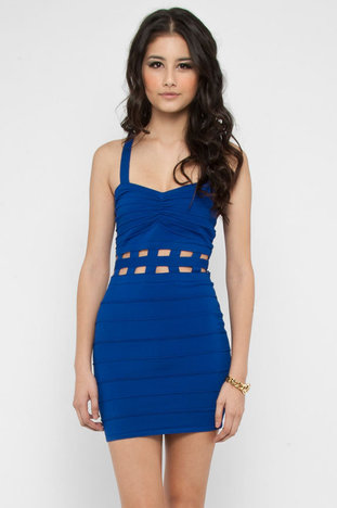 Off the Grid Bandage Dress