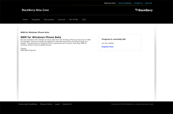 BBM untuk Windows phone, log in dengan ID BlackBerry,BBM untuk Windows