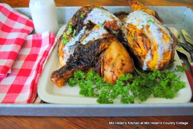 Grilled Chicken with Alabama White Sauce at Miz Helen's Country Cottage