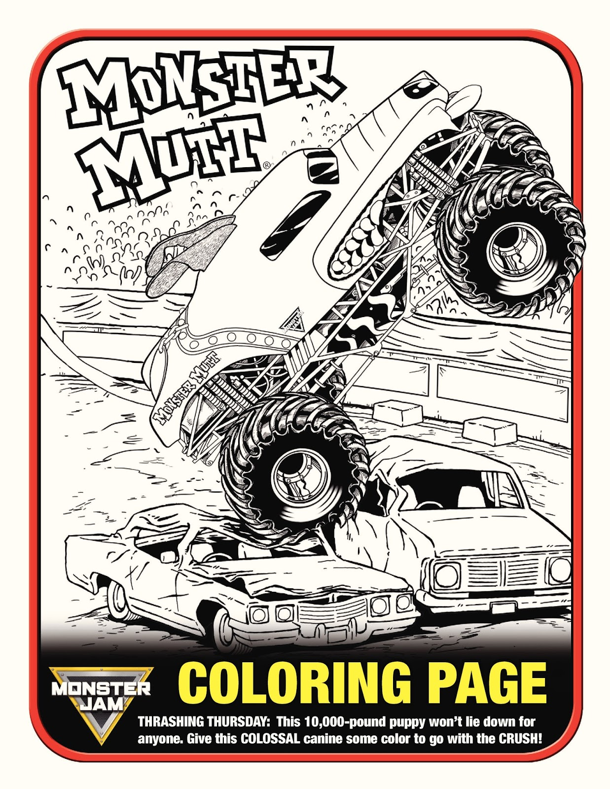 monster jam 2013 coloring pages - photo#14