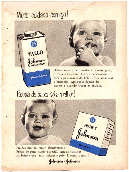 Talco e Fralda (Johnson & Johnson) - Propaganda dos anos 50