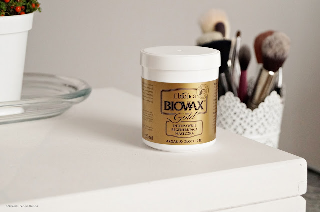 Intensywnie regenerująca maska do włosów L'biotica Biovax Glamour Gold