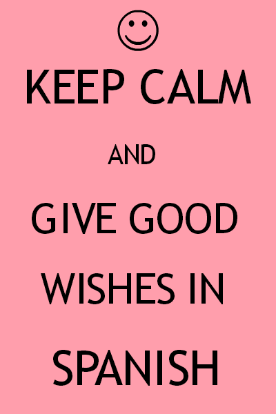 Learn good wishes in Spanish with audios. Visit www.soeasyspanish.com