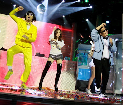 Jugs and Teddy Do Gangnam Style With Cristine Reyes on It's Showtime 3rd Anniversary