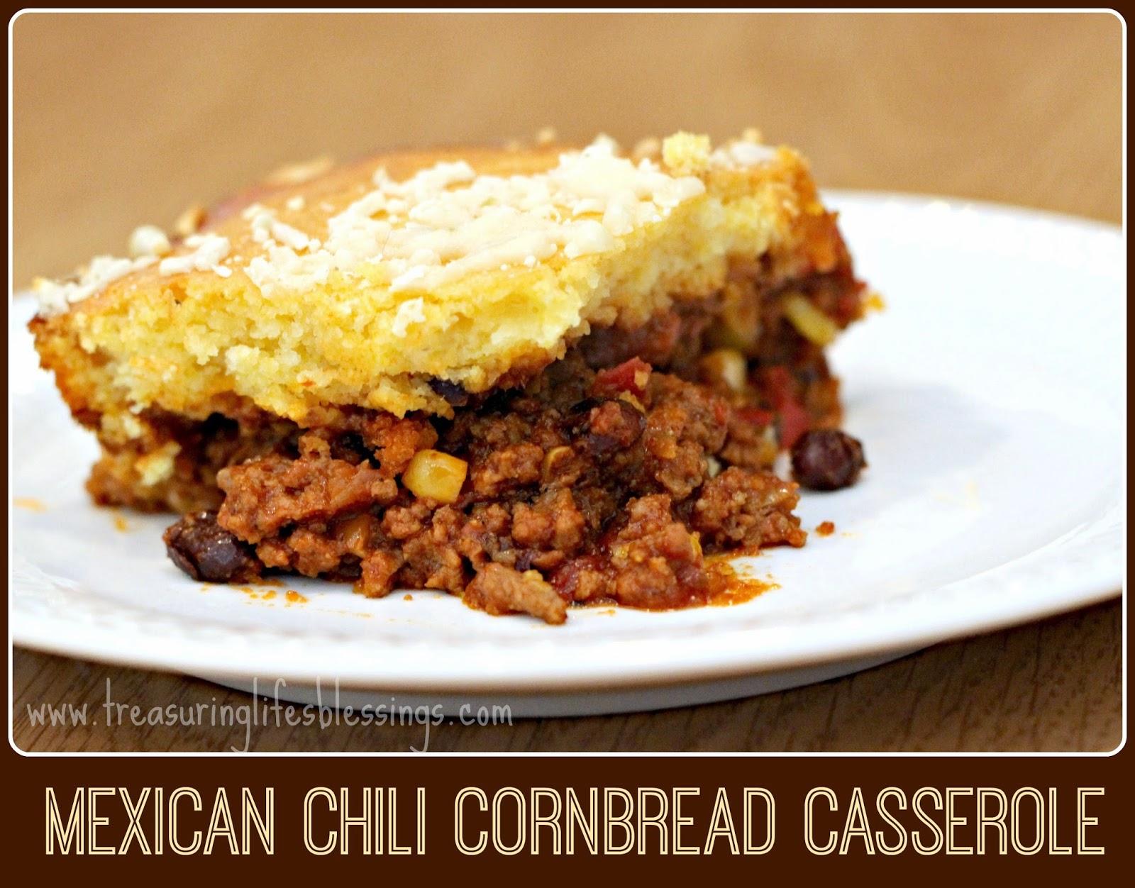 mexican chili cornbread casserole