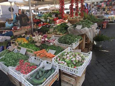 campo de fiori, rome italy, outdoor market