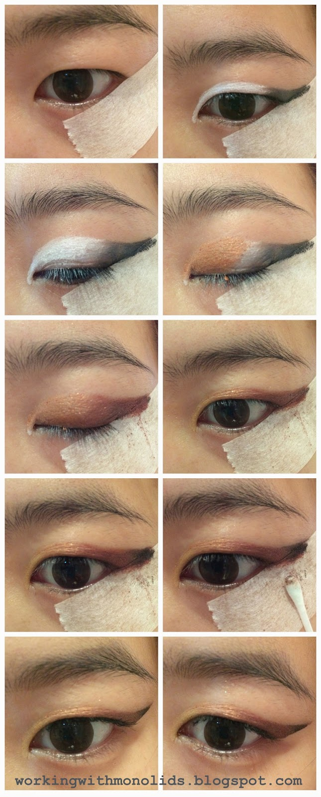 monolid makeup tutorial, single eyelid tutorial