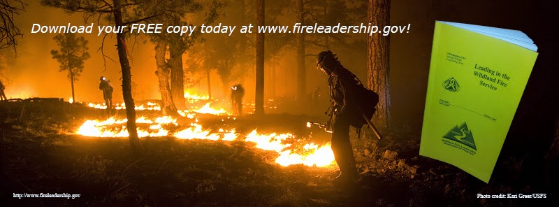 Leading in the Wildland Fire Service banner