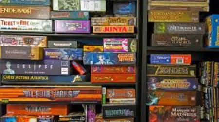 Boardgames aplenty